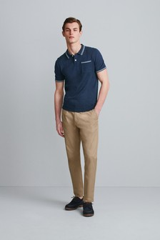 Premium Tipped Pocket Polo