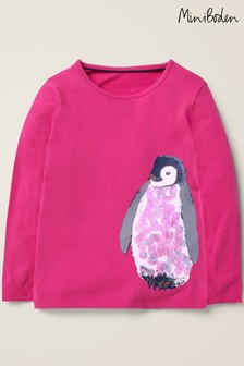 Boden Pink Sparkly Animals T-Shirt
