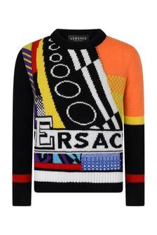 Versace Boys Multicoloured Wool Jumper