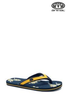 Animal Blue Swish Slim Print Flip Flops