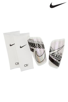 Nike White CR7 Shinguards