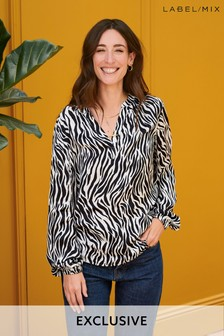 Mix/Primrose Park Zebra Print Top