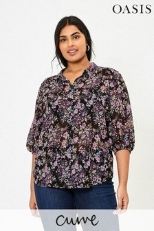Oasis Blue Curve Blossom Shirt