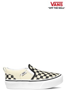 Vans Youth Asher Platform Checkerboard Trainers