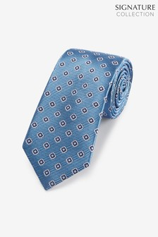 Signature Medallion Silk Tie