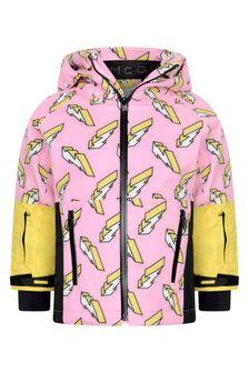 Girls Pink Lightning Ski Jacket