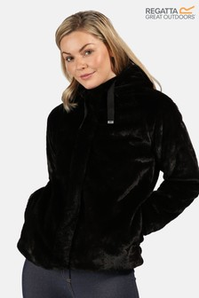 Regatta Black Haddie Faux Fur Fleece