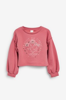 Cropped Crew Neck Sweat Top (3-16yrs)