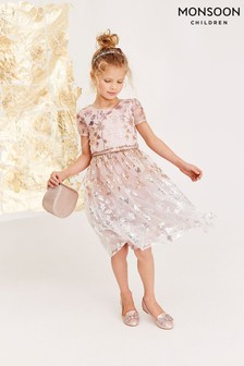 Monsoon Pink Zoey Sequin Ombre Dress