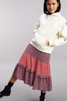 Tommy Hilfiger Red Mixed Flower Skirt