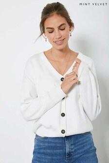 Mint Velvet Off-White Buttoned Cardigan