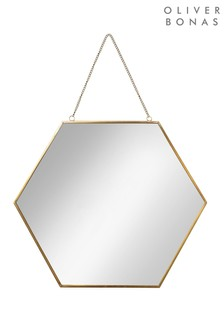 Oliver Bonas Hexagon Large Wall Mirror