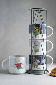 Christmas Stacking Mugs