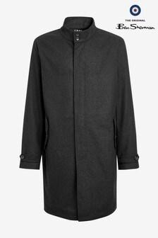 Ben Sherman Grey Wool Harrimac Jacket