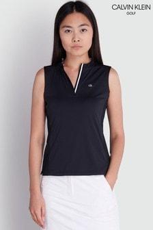 Calvin Klein Golf Black Verde Sleeveless Polo