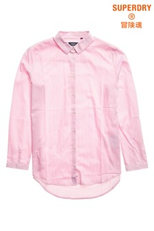 Superdry Pink Twill Shirt