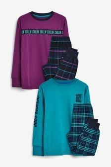 2 Pack Taping Check Pyjamas (3-16yrs)