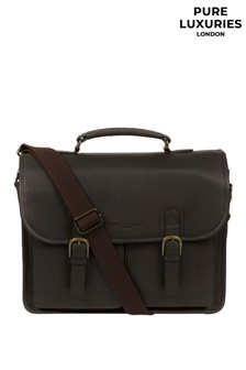 Pure Luxuries London Bank Leather Work Bag
