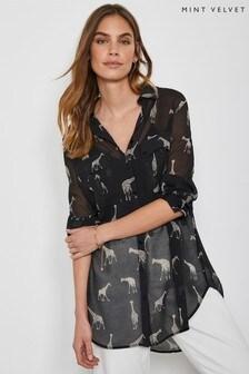 Mint Velvet Mely Giraffe Longline Shirt