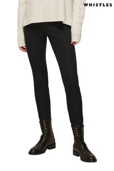 Whistles Black Super Stretch Trousers