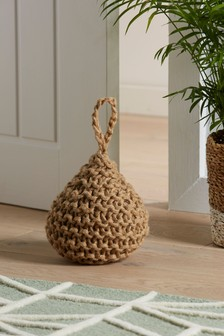 Chunky Knitted Jute Doorstop