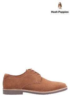Hush Puppies Tan Archie Lace-Up Shoes