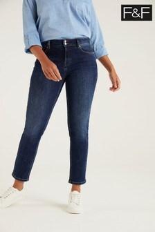 F&F Slim Copper Rivet Indigo Jeans