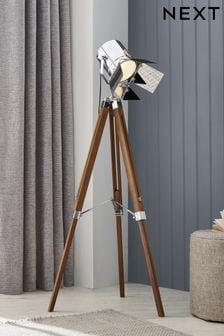 Natural Henley Tripod Floor Lamp