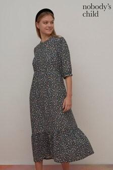 Nobody's Child Rachel Floral Print Midi Dress