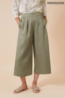 Monsoon Cropped Trousers In Lenzing™ EcoVero™