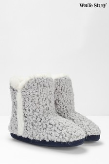 White Stuff Grey Cloud Slipper Booties