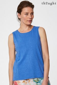 Thought Blue Betta Vest Top