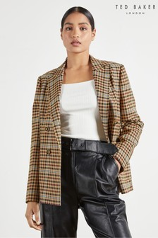 Ted Baker Ramune Check Double Breasted Jacket