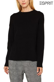 Esprit Black Knitted Jumper With Turtle Neck