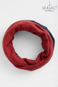 Seasalt Navy Reversible Snood