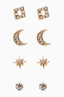 Star Stud Stacker Earring Pack