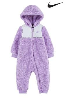 Nike Infant Lilac Sherpa Fleece All-In-One