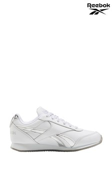 Reebok White/Silver Metallic Royal Jogger Junior & Youth Trainers