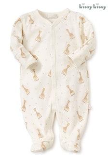 Kissy Kissy Yellow Sophie La Girafe Babygrow