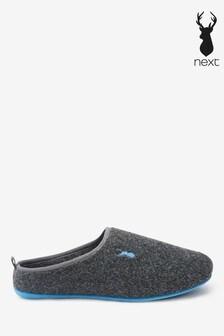 Felt Stag Mule Slippers