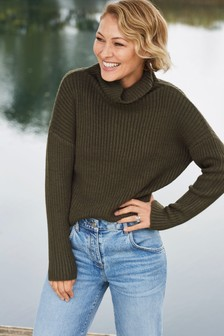 Emma Willis Rib High Neck Jumper