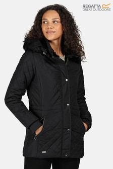 Regatta Black Zella Quilted Insulated Jacket