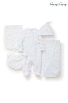 Kissy Kissy White Hatchlings Duck Print 5 Piece Gift Set