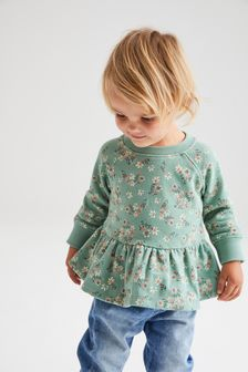 Soft Touch Jersey Peplum Sweatshirt (3mths-7yrs)