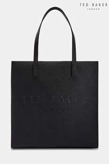 Ted Baker Black Soocon Crosshatch Large Icon Bag