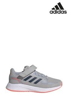 adidas Grey/Black Run Falcon 2 Youth Trainers