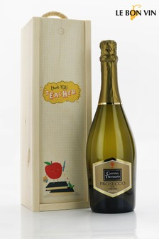Thank You Teacher Prosecco Gift Set by Le Bon Vin
