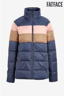 FatFace Blue Alex Stripe Padded Jacket