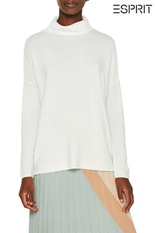 Esprit Natural Structured Roll Neck Sweater