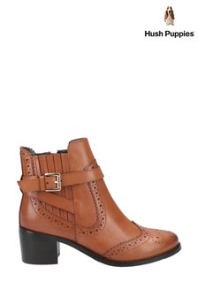 Hush Puppies Brown Rayleigh Ankle Boots